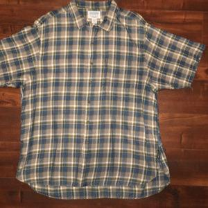 Plaid Abercrombie short-sleeve button-down